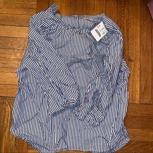 Brand new blue and white shirt